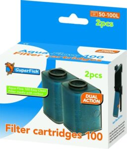 SuperFish AquaFlow Easy Click 100 Cartridge - Aquariumfilter - 2 Stuks