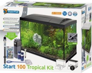 SuperFish Aquarium 100 liter Tropical Kit Zwart