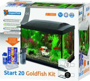 SuperFish Start 20 GoldFish Kit - Aquarium LED - Zwart - 36 x 23 x 32,1 cm - 20 L
