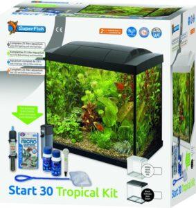 SuperFish Start 30 Aquarium LED Zwart Tropical Kit - 36 x 22 x 37 cm - 25 L - Zwart