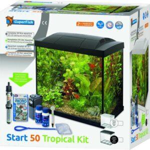 SuperFish Start 50 Tropical Kit - 48 x 28 x 37 - 50 L - Zwart