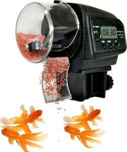 Levay ® visvoeder automatische vissen voeder - zwart
